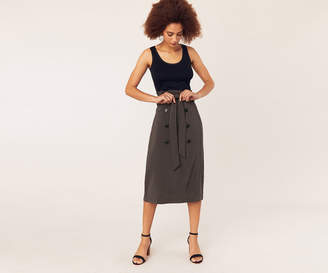 Oasis BELTED BUTTON SKIRT