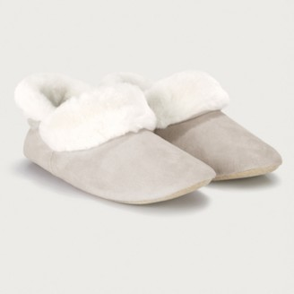 The White Company Fluffy Boot Slippers, Pale Grey, 4