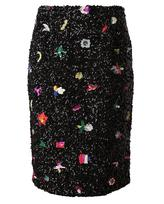 SUNO Sequin Embellished Pencil Skirt