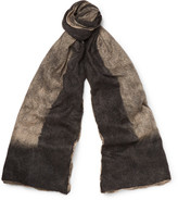Balenciaga Brushed Cashmere and Silk-Blend Scarf