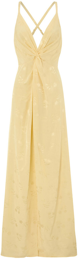Thumbnail for your product : Monsoon Karlie Knot Front Jacquard Dress Yellow