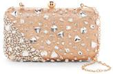 G Lish G-Lish Embellished & Glittery Large Hard Case Clutch