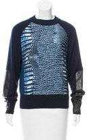 Reed Krakoff Leather-Accented Printed Sweater