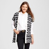 Sylvia Alexander Women's Shawl with Short Sleeve Black and Grey