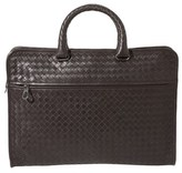 Bottega Veneta Intrecciato Leather Briefcase.