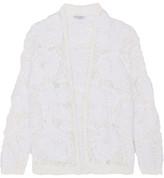 Brunello Cucinelli Open-knit Cardigan - White