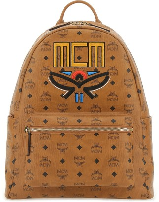 MCM Stark Visetos Embroidered Backpack
