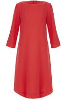 Goat Madeleine Pink Wool-Crepe Tunic Dress