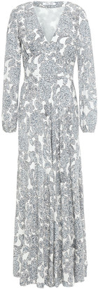 Samsoe & Samsoe Samse Samse Cindy Gathered Printed Crepe De Chine Maxi Dress