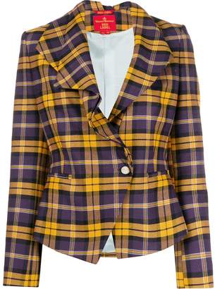Vivienne Westwood Pre-Owned 1990s plaid fitted jacket