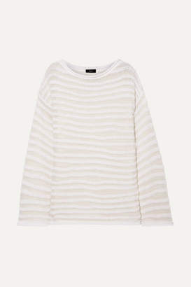 Theory Open-knit Cotton-blend Sweater - White