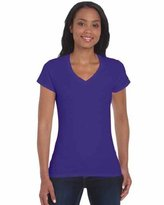 Gildan Womens Soft Style V-Neck Cotton tshirt