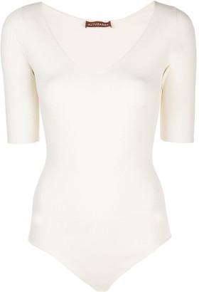 Altuzarra V-neck knitted bodysuit
