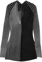 Proenza Schouler Two-tone Ribbed Lurex Sweater - Silver