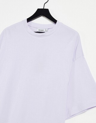 Weekday Huge organic cotton oversized t-shirt dress in lilac