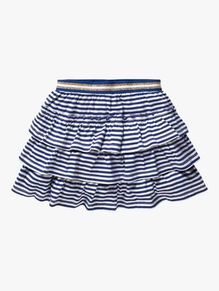 Boden Girls' Jersey Stripe Ruffle Skort