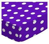 SheetWorld Extra Deep Fitted Portable / Mini Crib Sheet - Polka Dots - Made In USA