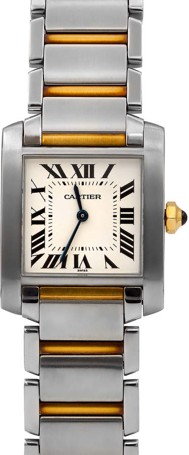 Cartier Pre-Owned 18k Tank Francaise Bracelet Watch, Two-Tone