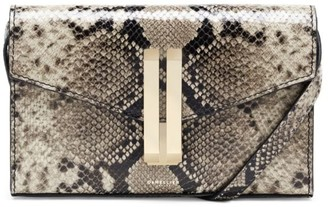 DeMellier Quebec Snakeskin-Embossed Leather Clutch