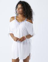 Accessorize Mara Embroidered Cold Shoulder Dress