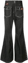 Puma Maison Yasuhiro studded bell bottom jeans