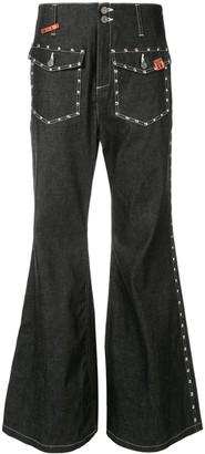 Maison Mihara Yasuhiro Studded Bell Bottom Jeans