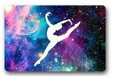 Mr. Six Custom Gymnastic Galaxy Hall Bedroom Rug Doormat Rug Cover Pad Outdoor Indoor 23.6 X 15.7 Inch Y5-80
