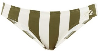 Solid & Striped Elle Striped Bikini Briefs - Womens - Green Stripe