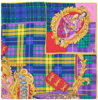 Versace Pre-Owned The Clans printed scarf