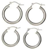 SterlingSilver Hoop Earrings 2-pair