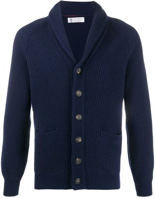 Brunello Cucinelli Ribbed Knit Cardigan