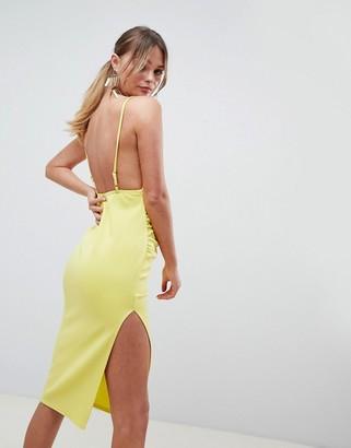 Asos Design DESIGN wrap front scuba midi dress