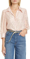 Stella McCartney Reese Metallic Fil Coupe Dot Shirt