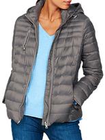 Mint Velvet Graphite Quilted Lightweight Zip Jacket, Dark Grey