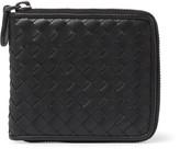 Bottega Veneta Intrecciato Leather Wallet - Black