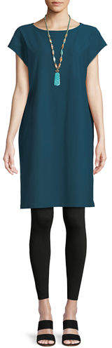 Eileen Fisher Short-Sleeve Stretch Crepe Tunic