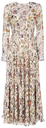 La DoubleJ Hera Long-Sleeve Floral Maxi Dress