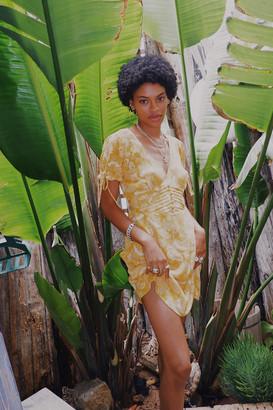 Urban Outfitters Talia Tie Sleeve Mini Dress