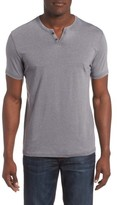 Lucky Brand Men's Burnout Notch Neck T-Shirt