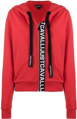 Just Cavalli Logo-Print Zipped Hoodie