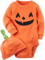 Carter's Baby Pumpkin Bodysuit & Hat Set