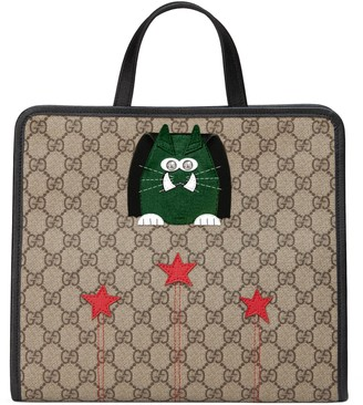 Gucci Children's GG cat tote bag