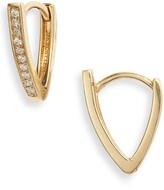 Bony Levy Kiera Diamond Bar Hoop Earrings