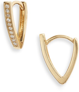 Bony Levy Kiera Diamond Bar Hoop Earrings