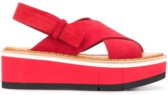 Paloma Barceló Criss-Cross Suede Sandals