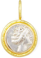 Elizabeth Locke Ancient Greek Silver & 19k Gold Coin Pendant
