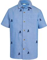 John Lewis Boys' Skull Embroidery Shirt, Blue