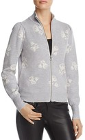 Rebecca Taylor Floral Zip Sweater