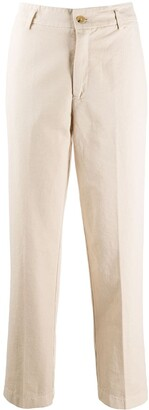 Forte Forte Pleat Detail Cropped Trousers