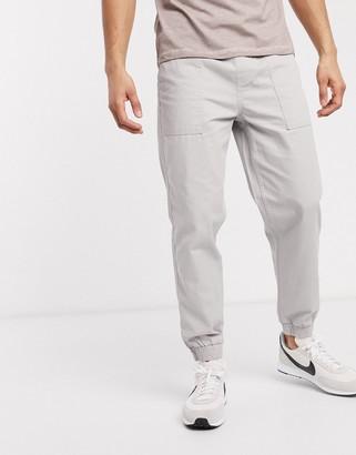New Look cuffed utility trouser in grey